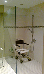 Custom Wheelchair Accessible Shower with Sloped Floor