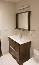 mirror and shelf combo with vanity