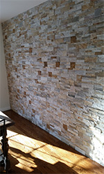 custom textured stone wall